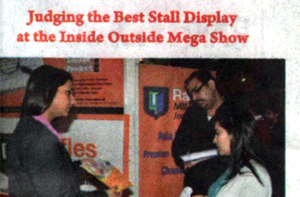 Judging the best stall display at the Inside Outside Mega Show